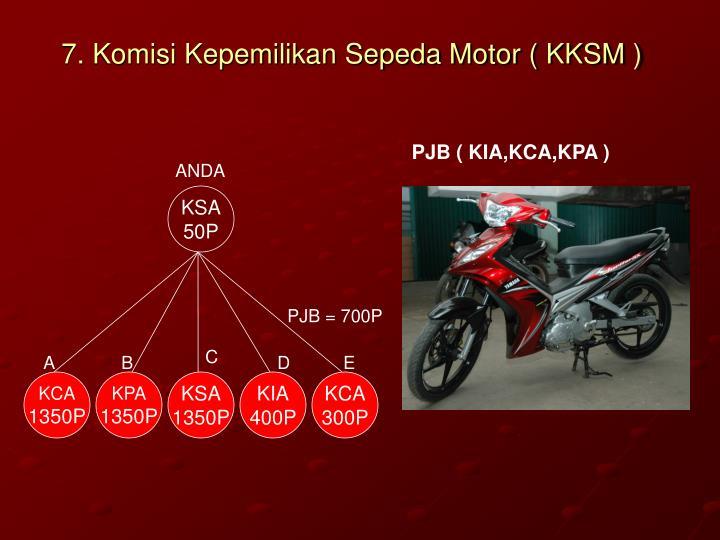 7. Komisi Kepemilikan Sepeda Motor ( KKSM )