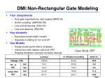 dmi non rectangular gate modeling