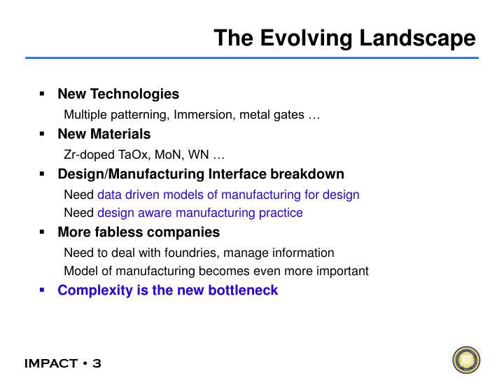 The Evolving Landscape