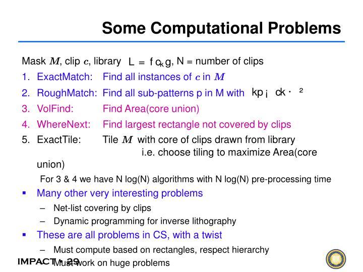 Some Computational Problems
