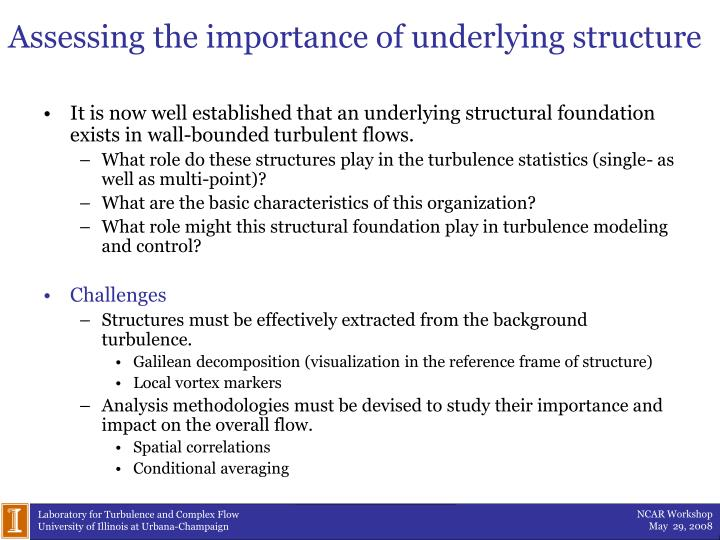 Assessing the importance of underlying structure