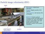 particle image velocimetry piv