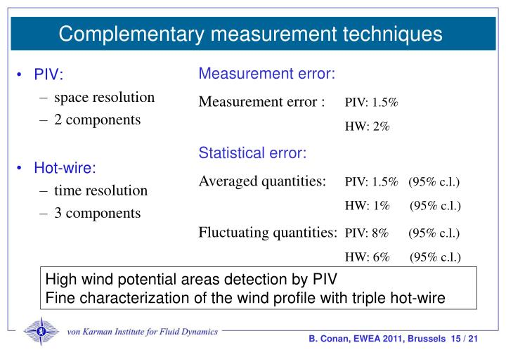 Complementary measurement techniques