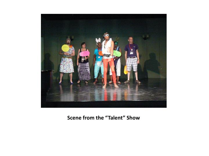 "Scene from the ""Talent"" Show"
