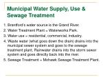 municipal water supply use sewage treatment