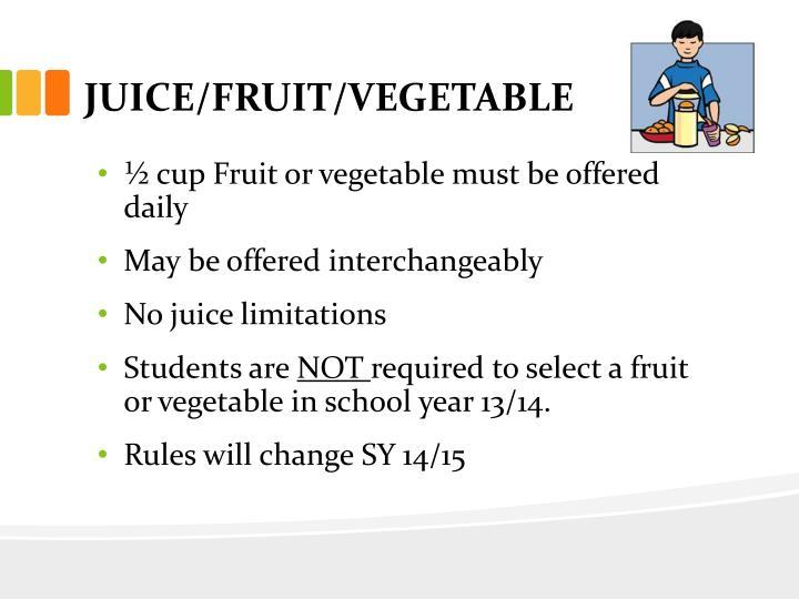 JUICE/FRUIT/VEGETABLE