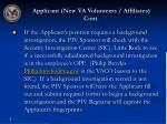 applicant new va volunteers affiliates cont