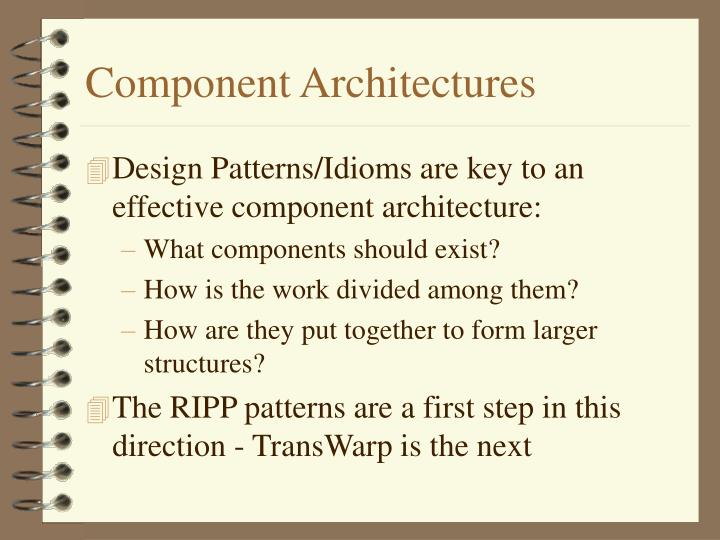 Component Architectures