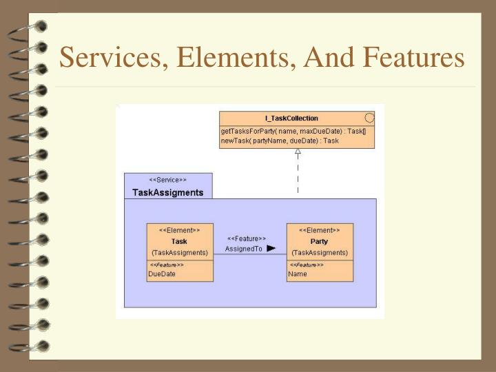 Services, Elements, And Features