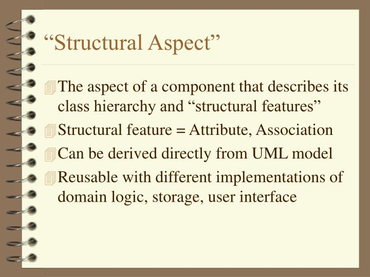 """Structural Aspect"""