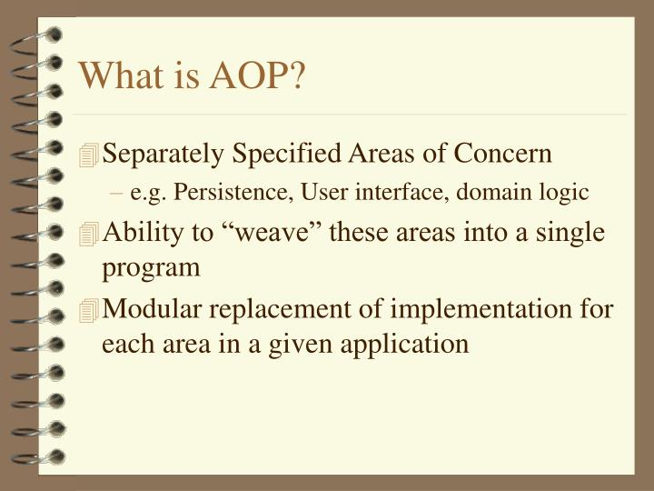 What is AOP?