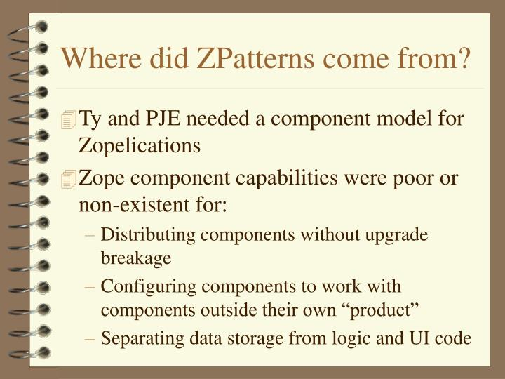 Where did ZPatterns come from?