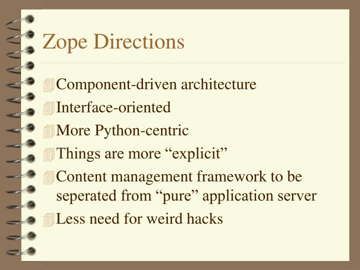Zope Directions