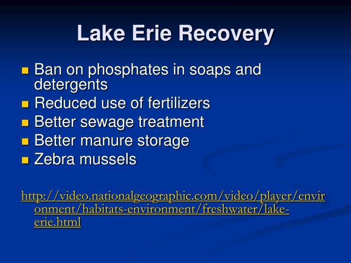 Lake Erie Recovery