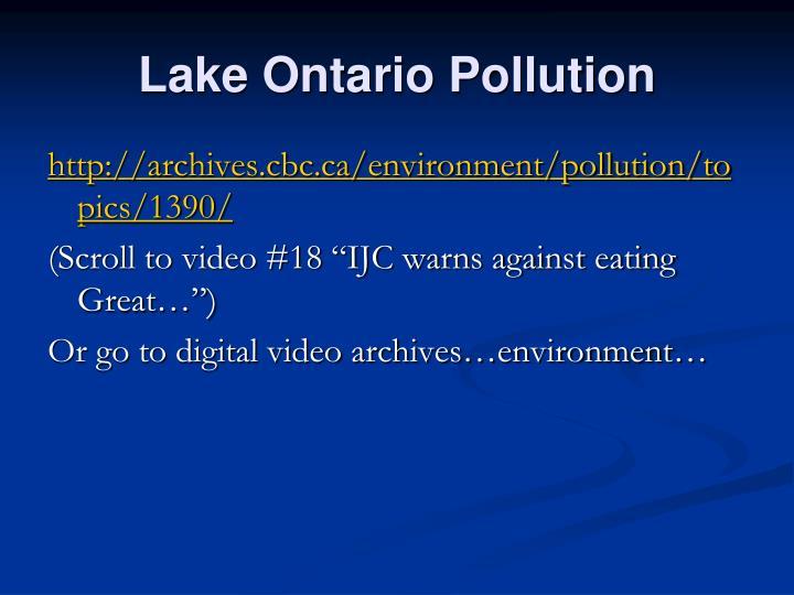 Lake Ontario Pollution