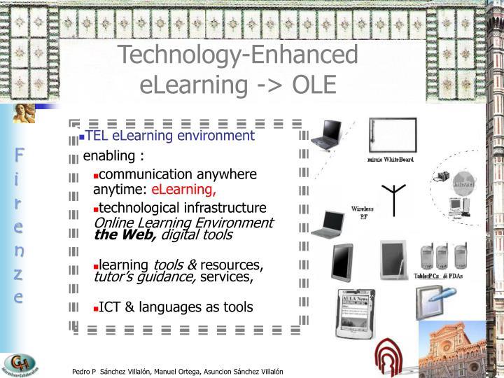 TEL eLearning environment