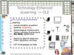technology enhanced elearning ole