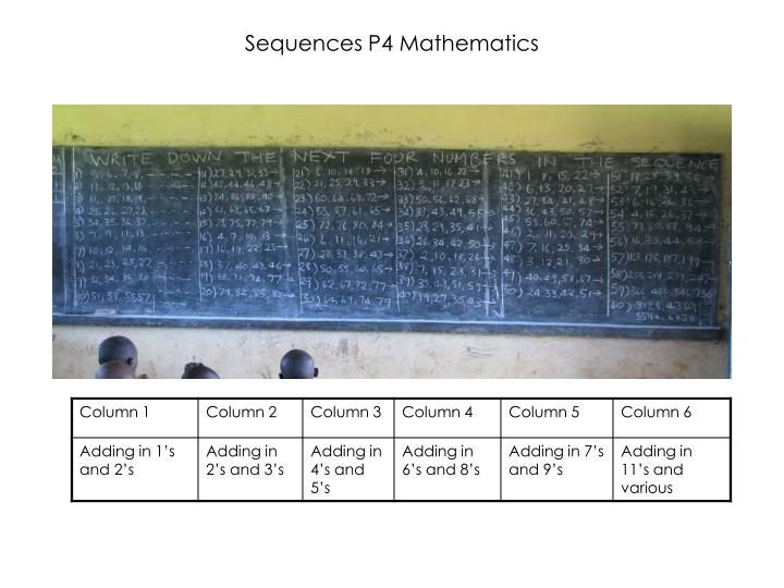 Sequences P4 Mathematics