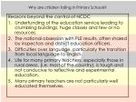 why are children failing in primary schools1