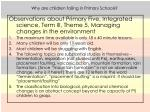 why are children failing in primary schools6