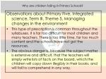 why are children failing in primary schools8