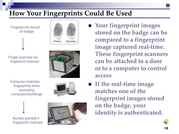 How Your Fingerprints Could Be Used