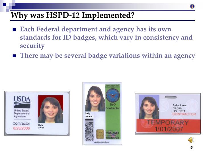 Why was HSPD-12 Implemented?