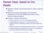 bit parallelism paper algorithm 2 packet class based on inc reads