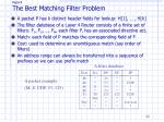 paper4 the best matching filter problem