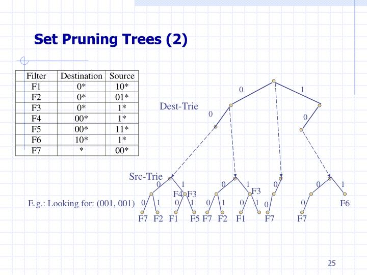 Set Pruning Trees (2)