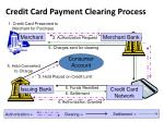 credit card payment clearing process
