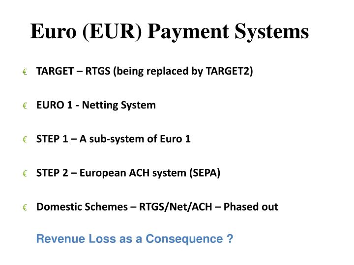 Euro (EUR) Payment Systems