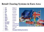 retail clearing systems in euro area