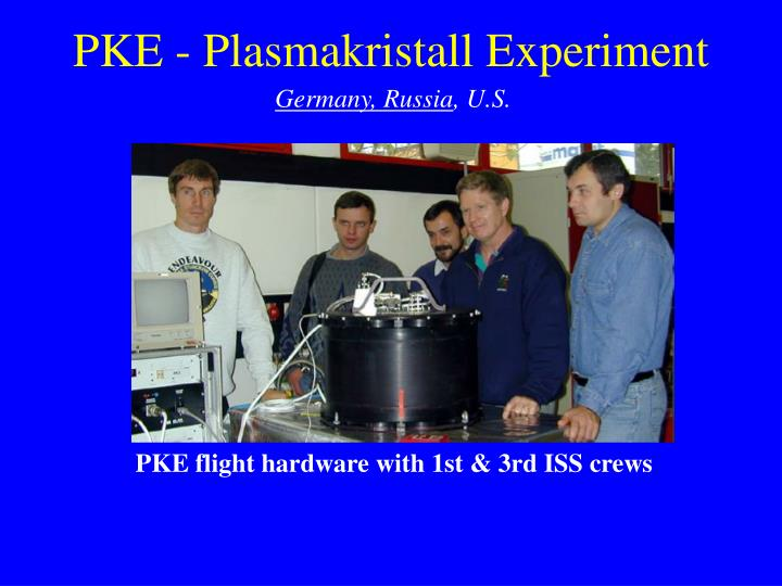1999 - Parabolic flight tests