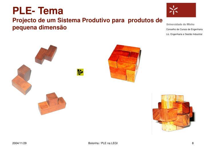 PLE- Tema