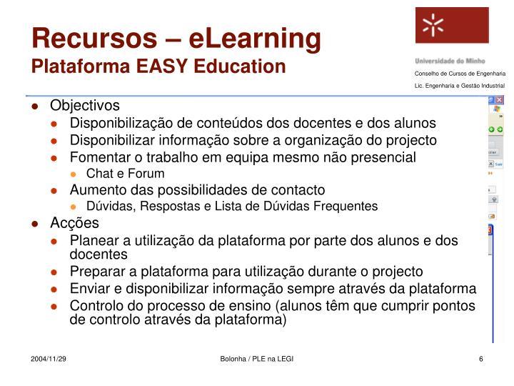 Recursos – eLearning