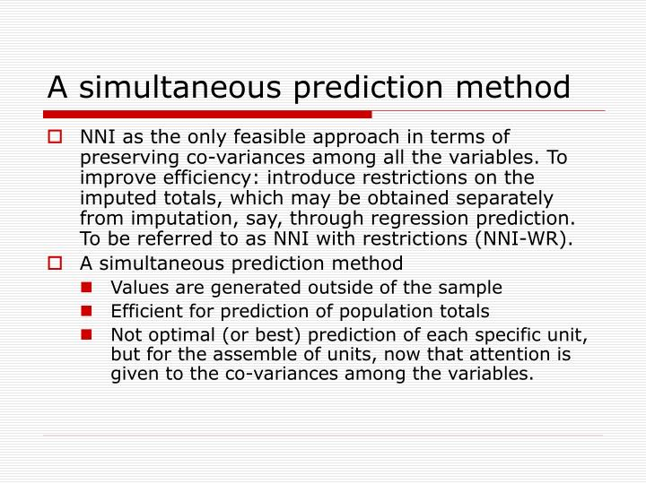 A simultaneous prediction method