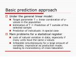 basic prediction approach