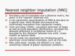 nearest neighbor imputation nni