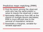 predictive mean matching pmm