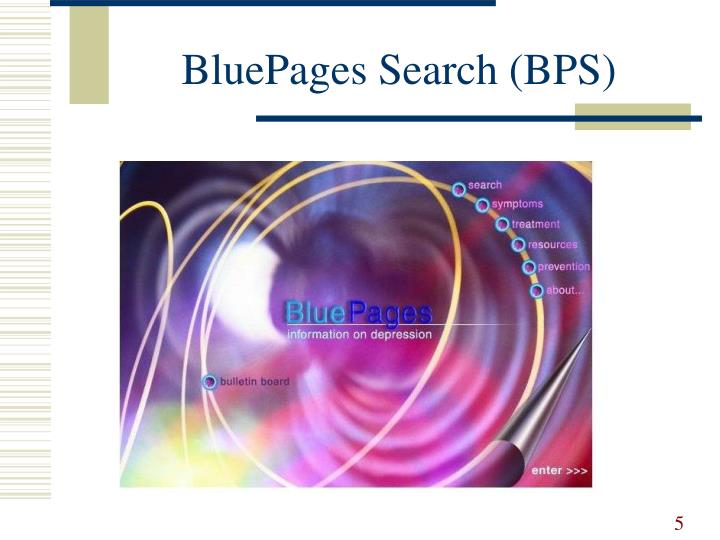 BluePages Search (BPS)