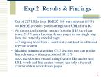 expt2 results findings