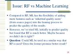 issue rf vs machine learning