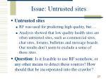 issue untrusted sites