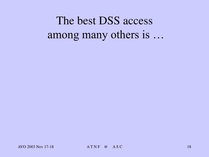 The best DSS access