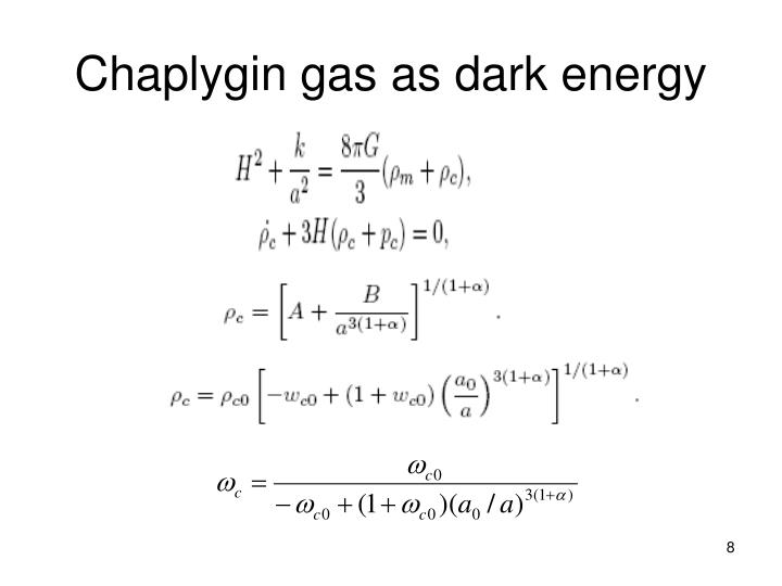 Chaplygin gas as dark energy
