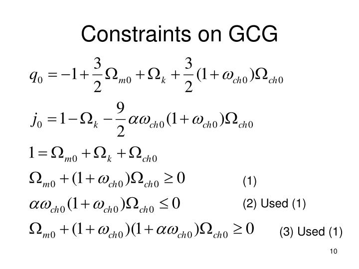 Constraints on GCG
