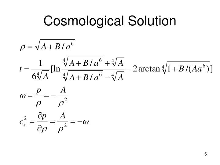 Cosmological Solution