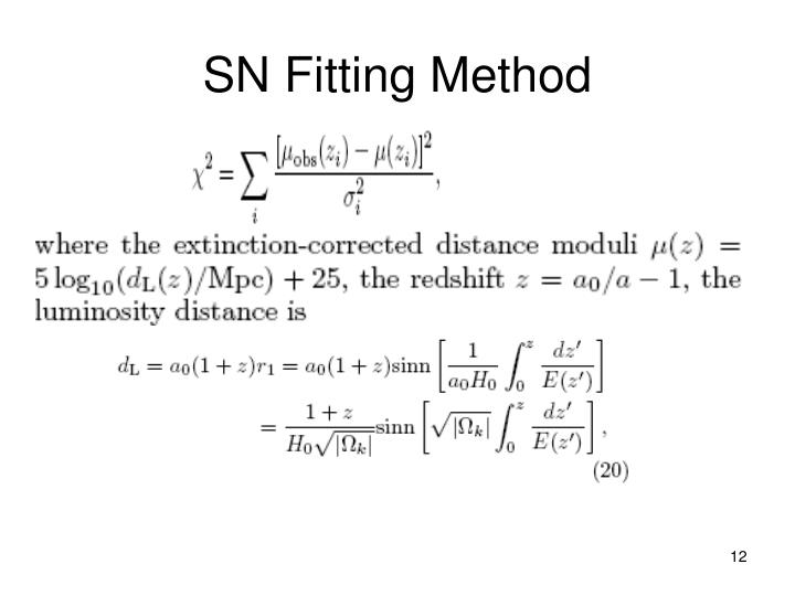 SN Fitting Method
