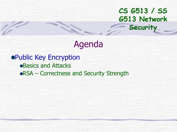 CS G513 / SS G513 Network Security